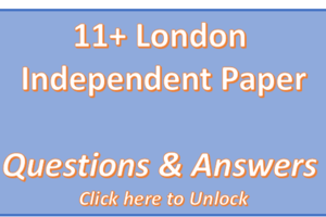 London Independent 11+ Papers