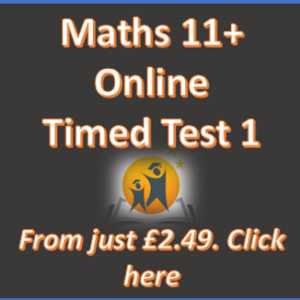 11+ Maths Online Practice Test 1