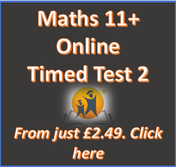 11+ Maths Online Practice Test 2