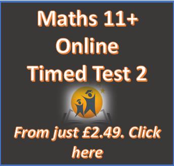 11+ Maths Online Practice Test 2