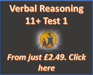 11+ Verbal Reasoning Online Practice Test 1