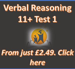 11+ Verbal Reasoning Online Practice Test 1